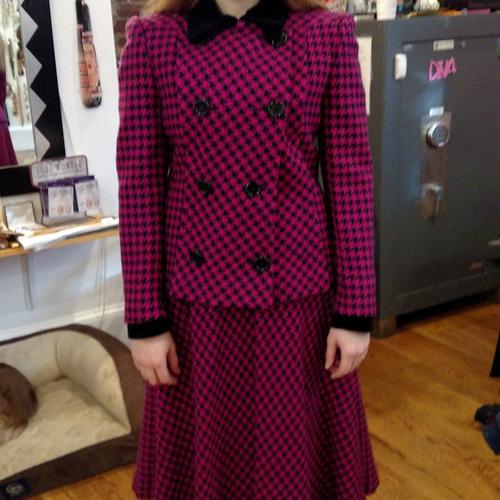 Clothing suit skirt pink black