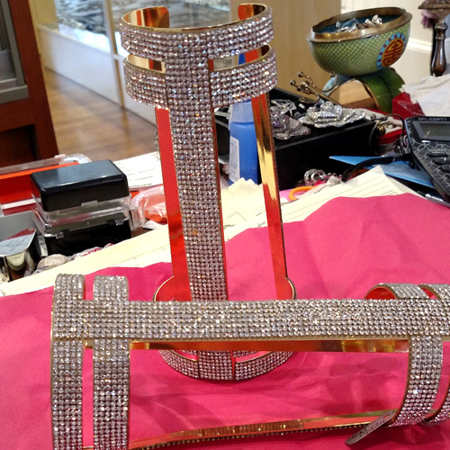 Crystal arm cuffs Versace Handmade