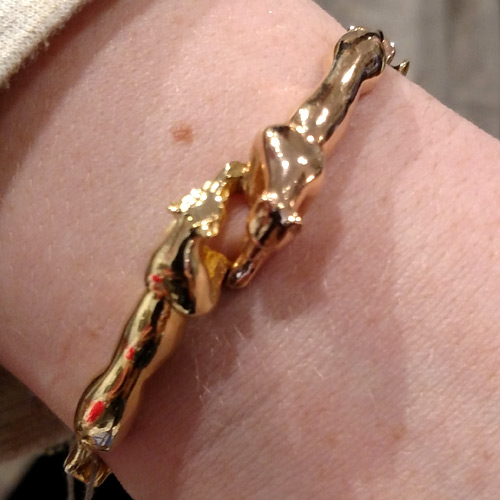 gold cats jaguar bracelet