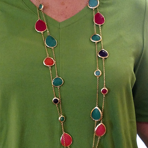 Ippolito-esque necklace blue red