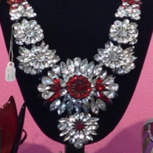 crystal red necklace