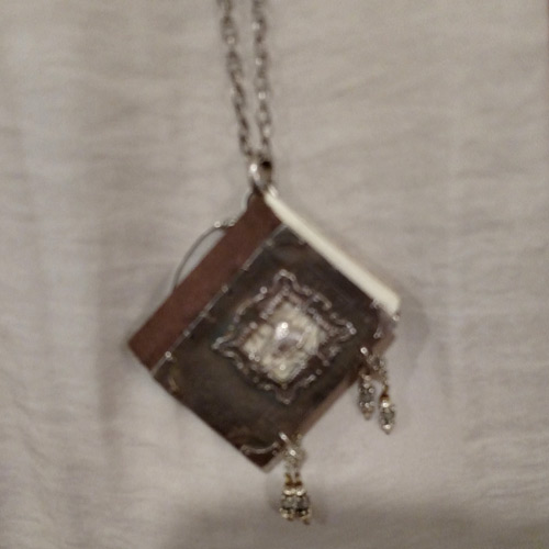 Silver Book of Secrets Pendant