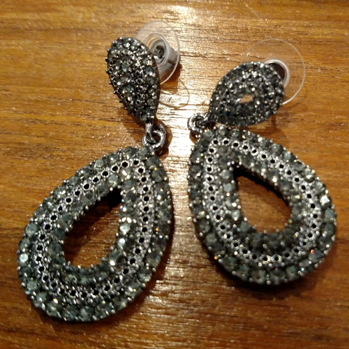 Contemporary costume crystal earrings