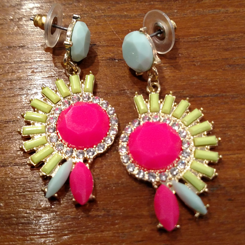 Costume pink earrings