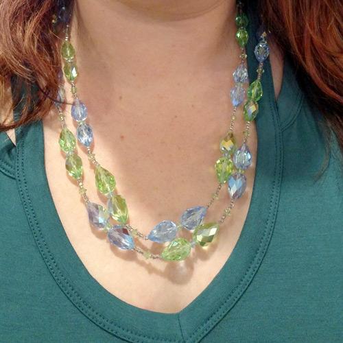 Vintage Vendome blue/green necklace