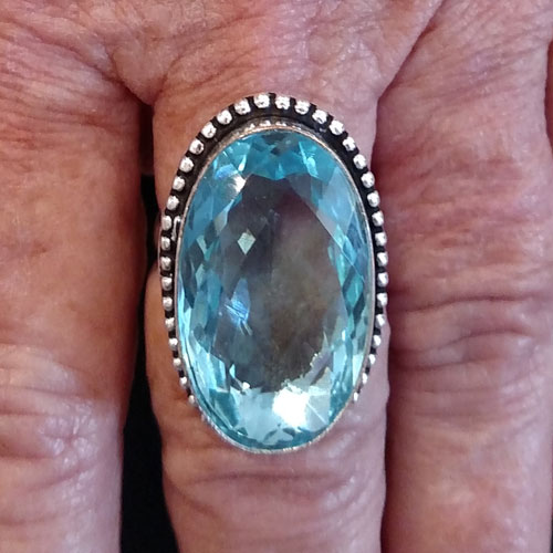 Sterling & Topaz Ring