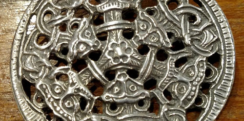 Antique sterling Celtic pin