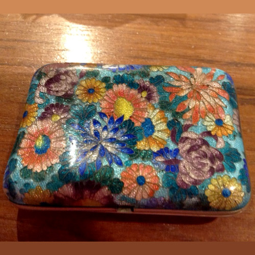 antique chinese cloisonne cigarette case