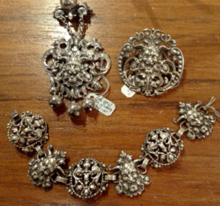 Antique Cini pins and matching bracelet