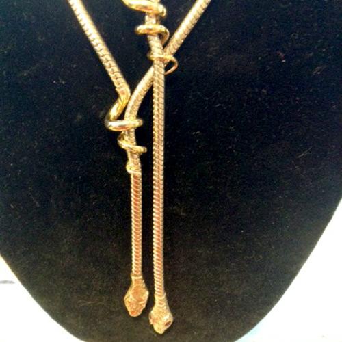 sterling 18k sapphire snake necklace