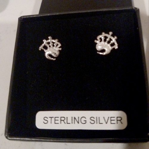 sterling bagpipe earrings