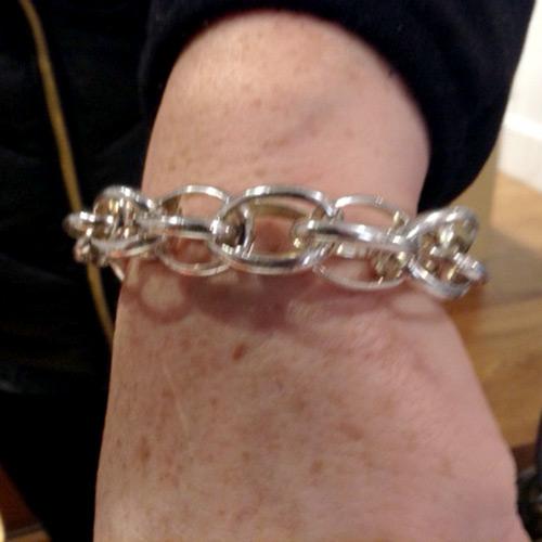 sterling link bracelet