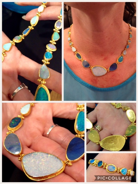 24k and Australian opal necklace
